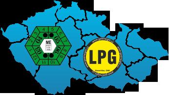 Měření emisí LPG mapa ČR