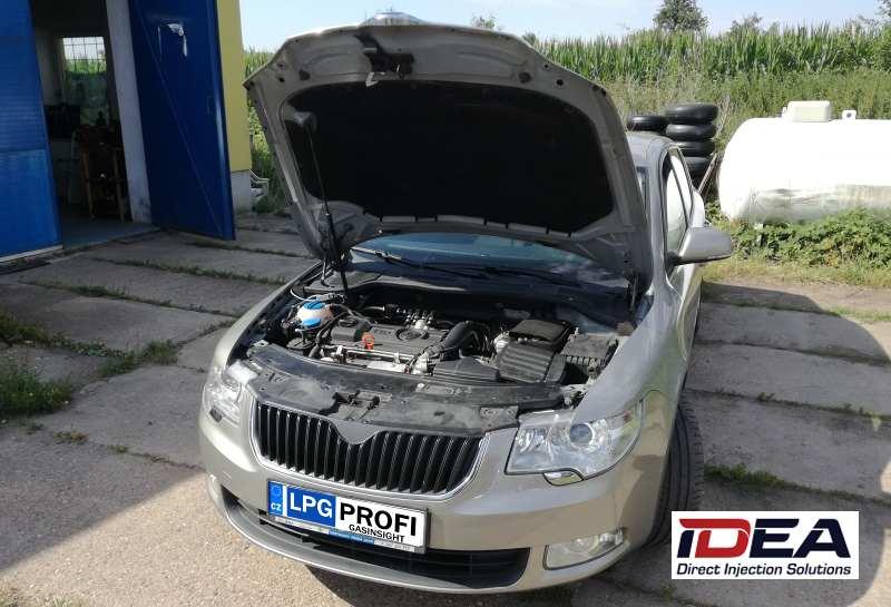 Škoda Superb 1.4 TSI na LPG se systémem ALEX Idea DI