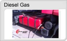 Dieselgas duální pohony dieselů na LPG nebo CNG