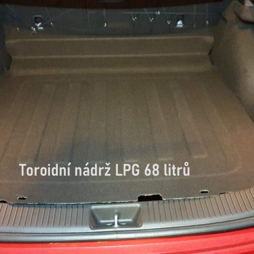 hyundai I30 přestavba na LPG nádrž LPG toroid