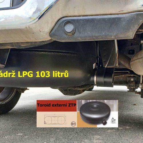 RAM HEMI 2019 přestavba na lpg - nádrž LPG toroidní 103 litrů