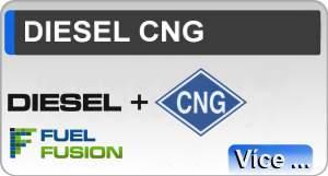 Diesel CNG duální pohon dieselů na naftu a CNG se systémem Fuel Fusion